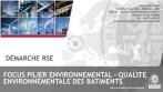 Les piliers environnementaux : la HQE, la performance