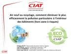 Air neuf ou recyclage : comment diminuer le plus efficacement la pollution particulaire à l'intérieur des bâtiments