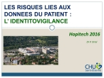 Les risques liés aux données du patient : l'identitovigilance