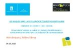 Les risques dans la restauration : l'exemple des Hospices Civils de Lyon. Le document unique au coeur des risques professionnels. Application d'un livret d'accueil sécurité à l'UCPA.