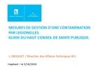 Mesures de gestion d'une contamination par légionelles. Guide du HCSP