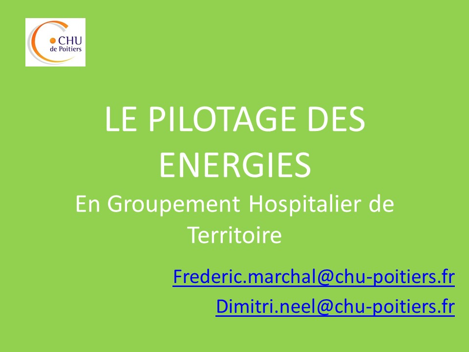 La gestion des énergies en GHT : outils et analyses avec le CHU de Poitiers