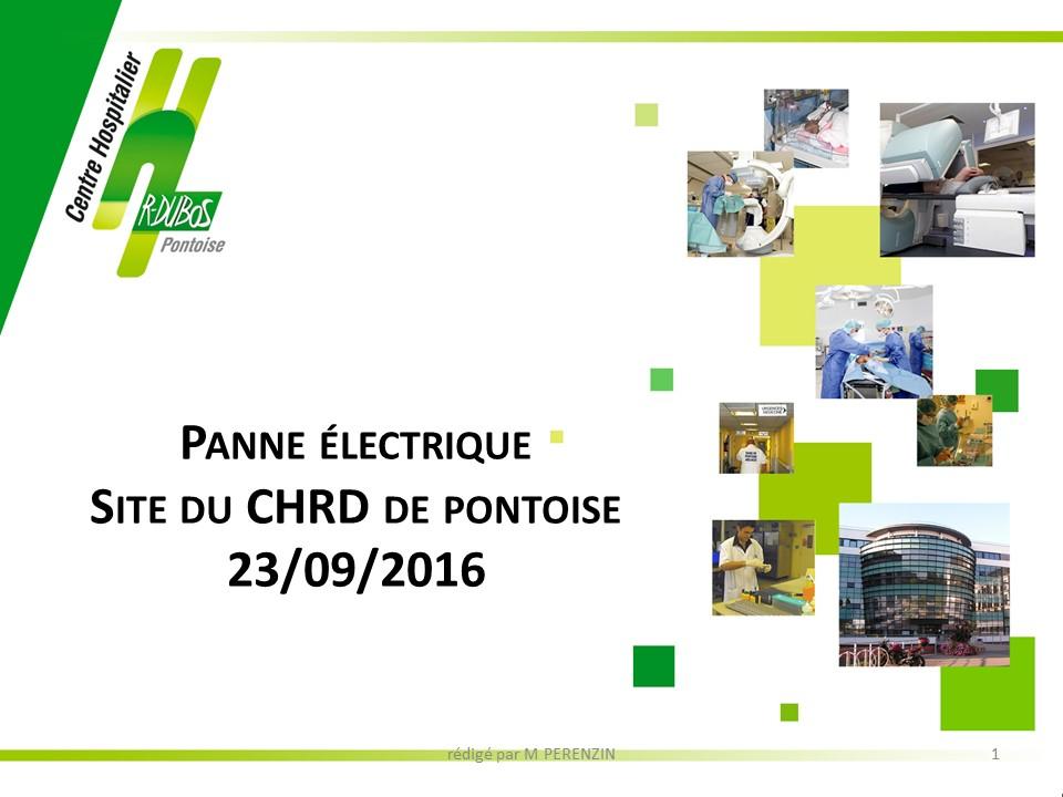 Plan Blanc et GHT : retour d'expérience sur une coupure générale d'alimentation électrique (analyse du risque, équipements sensibles, entraide)