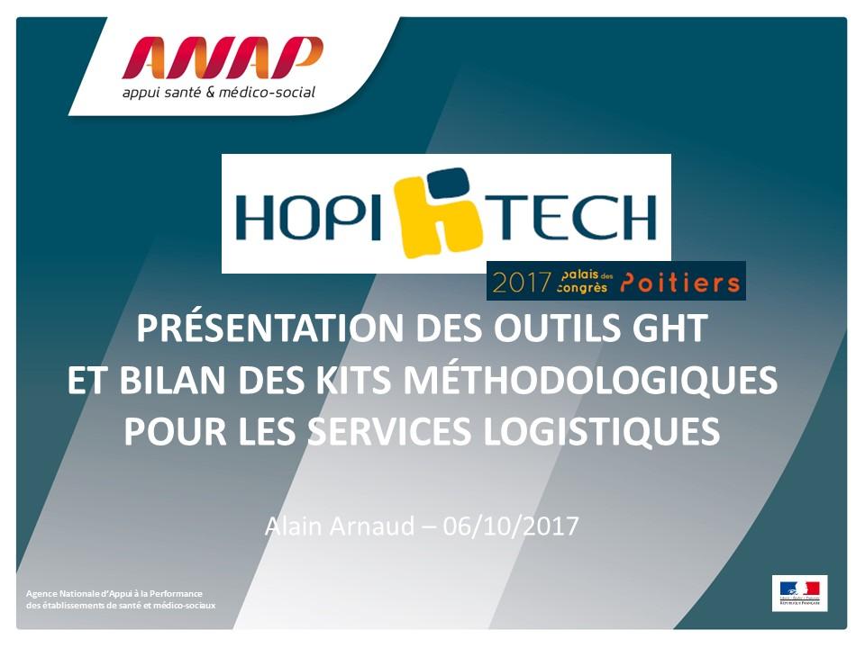 ANAP - Outils GHT, présentation des outils et bilan des kits méthodologiques pour les services logistiques