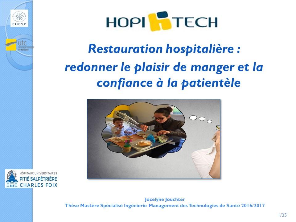 Restauration hospitalière : redonner le plaisir de manger et la confiance à la patientèle