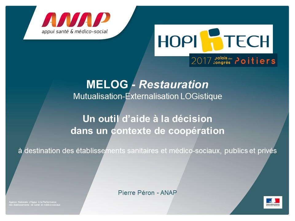 MELOG-Restauration, un outil d'aide à la décision dédiée à des projets de coopération entre établissements