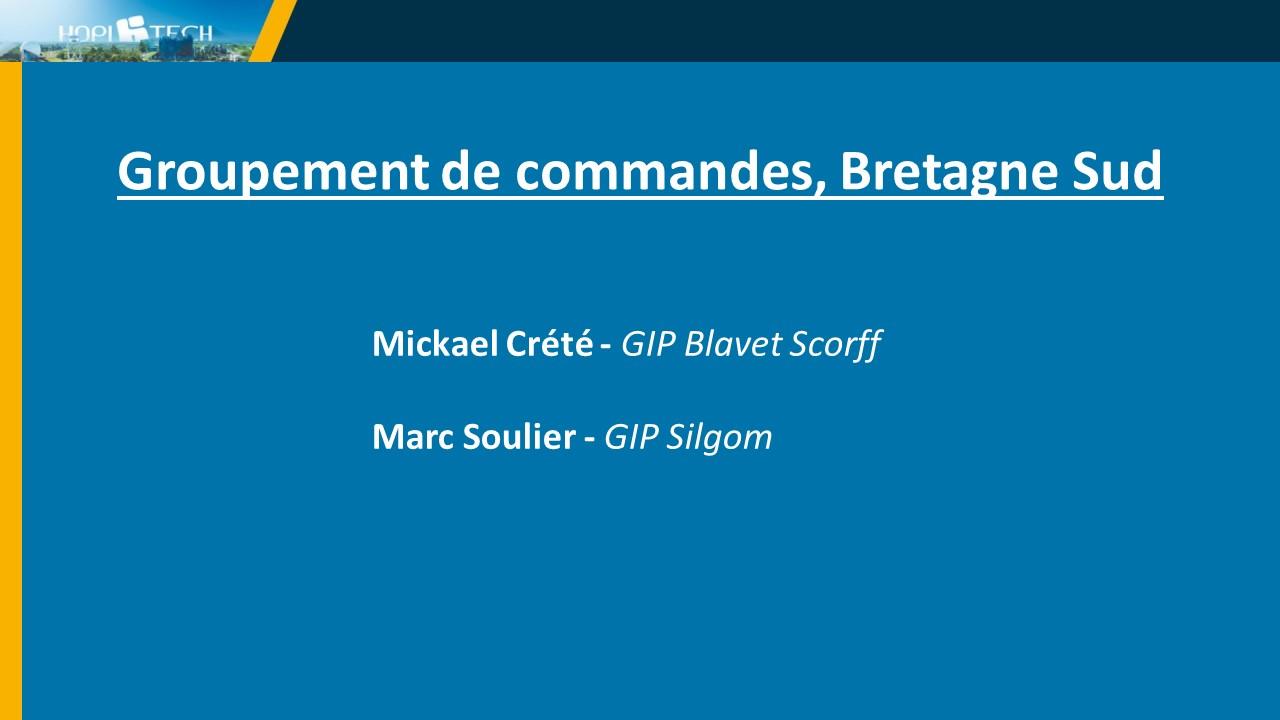 Groupement de commandes, Bretagne Sud