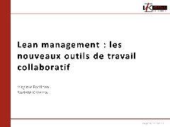 Session gestion du patrimoine  - Le LEAN sous la vision du retour d'expérience de l'industrie et de la santé