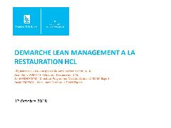 Session Restauration - Lean management restauration HCL